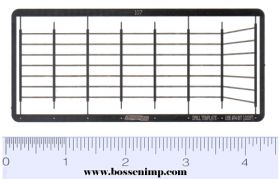 1/64 Ladder Cage Only Set Photo Etched .008 Stainless Steel