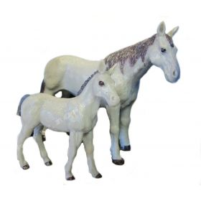 1/20 Horse Quarter Mare & Colt
