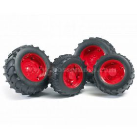 1/16 Accessory Set, Dual Wheels for 2000 Serie Bruder Tractors