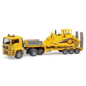 1/16 MAN TGA semi with Lowboy trailer & Caterpillar Dozer