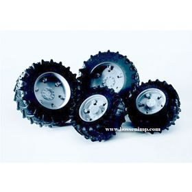 1/16 Accessory Dual Wheels silver for 3000 Series Pro Tractors