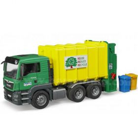 1/16 MAN TGA Garbage Truck green and yellow