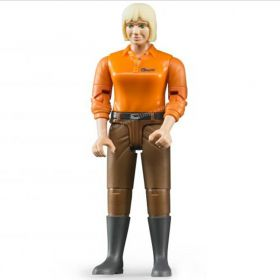 1/16 Woman w/ light skin, brown jeans & boots