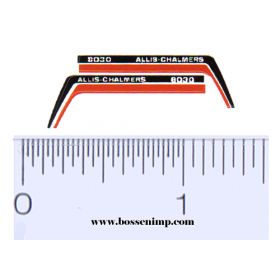 Decal 1/64 Allis Chalmers 8030 Hood Stripes