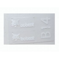 """Decal Bobcat Logo 1/4"""" (White)"""