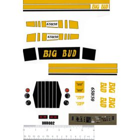 Decal 1/16 Big Bud 650/50 Yellow Set Complete