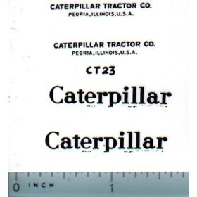 Decal Caterpillar Logo (black on clear)