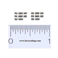 Decal 1/64 Claas Header Model Numbers (Pair)