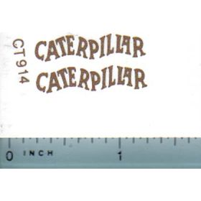 Decal Caterpillar (gold) Medium