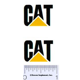 Decal CAT Logo (black, yellow triangle)