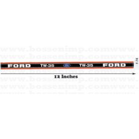 Decal 1/12 Ford TW-35 Side Panels black & orange