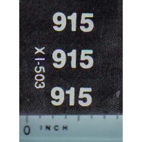 Decal 1/16 IH 915 Model Numbers
