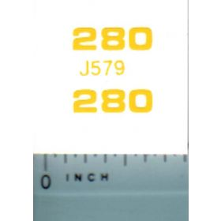 Decal 1/16 John Deere Loader 280 Model Numbers
