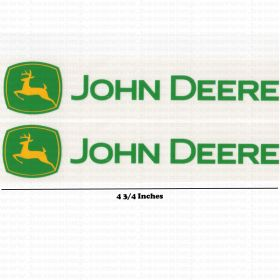 "Decal John Deere Coaster Wagon 4 3/4"" pair"
