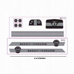Decal 1/16 Massey Ferguson 1100 Set