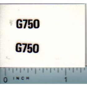 Decal 1/16 Minneapolis Moline G750 Model Numbers