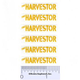Decal 1/16 Minneapolis Moline The Harvestor - Yellow Set of 6