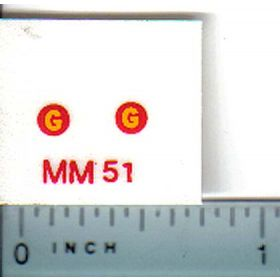Decal 1/16 Minneapolis Moline G Model Numbers