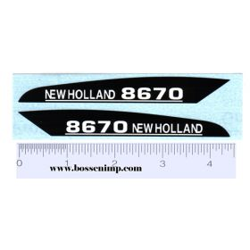 Decal 1/16 New Holland 8670 Hood Panels