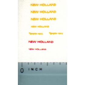 Decal 1/64 New Holland (yellow, red)