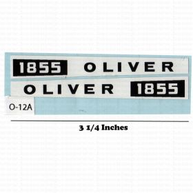 Decal 1/16 Oliver 1855 side panels