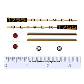 Decal 1/16 Oliver 1755 Set