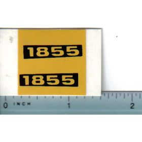 Decal 1/16 Oliver 1855 Model Numbers