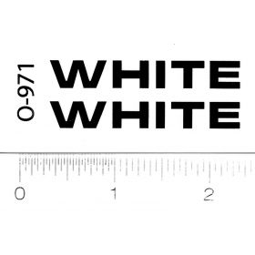 Decal White - Black Logo 1 1/2 inches