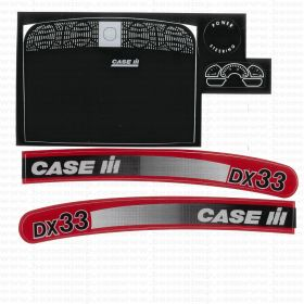 Decal Case IH DX-33 Pedal