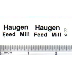 Decal Haugen Feed Mill 1 inch