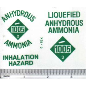 Decal 1/16 Anhydrous Ammonia - Green Print