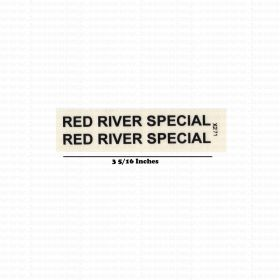 Decal 1/16 Red River Special - Black