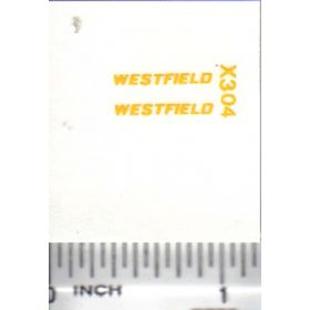 Decal 1/64 Westfield - Yellow