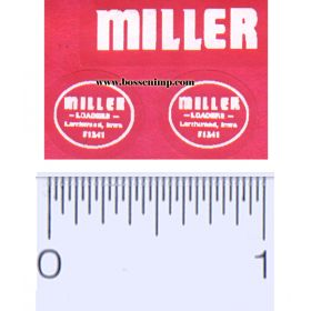 Decal 1/16 Miller Loaders White
