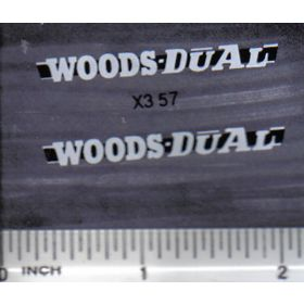 Decal 1/16 Woods Dual - White, Black