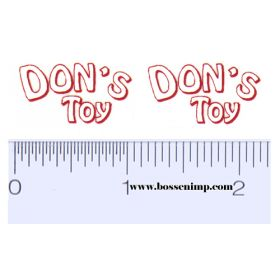 Decal 1/16 Don's Toy Decals (White, Red on Clear)  (Pairs)