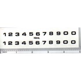 Decal Number Set - Black 1/4in. x 7/32in.