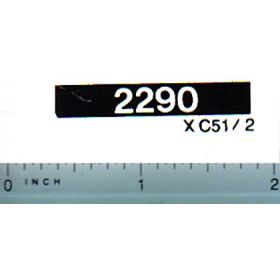 Decal 1/16 Case 2290 Model Numbers (white on black)