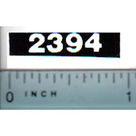Decal 1/16 Case 2394 Model Numbers (white on black)