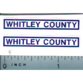 Decal 1/16 Whitley County