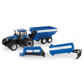 1/64 New Holland T8.320 w/Implement Set
