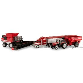 1/64 Massey Ferguson 4 Piece Harvesting Set