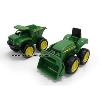 6 inch John Deere loader tractor & dump truck