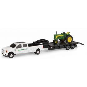 1/64 Ford F-350 Dealer Pickup John Deere with 530 & Trailer