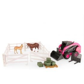 1/16 Big Farm Case Uni-loader with horses Set