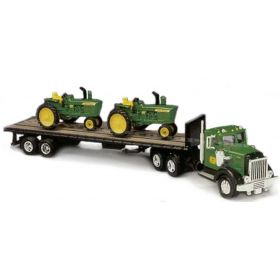 1/87 John Deere '48 Peterbilt with 4020 tractors