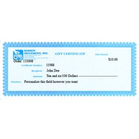 $10.00 Gift Certificate