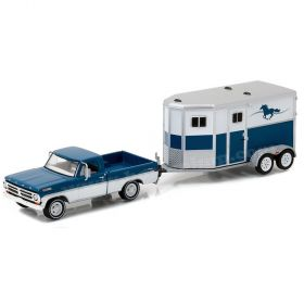 1/64 Ford F-100 1972 with Horse Trailer