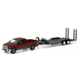 1/64 Ford F-150 2015 with car hauler trailer