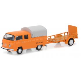 1/64 Volkswagon double cab with utility trailer